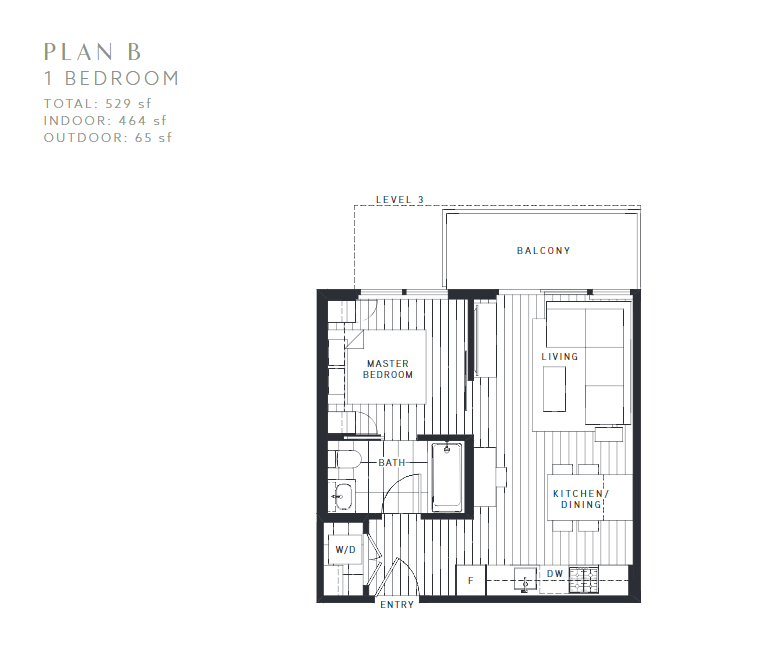 Maywood on the Park Burnaby Condo pre-sale floorplan B