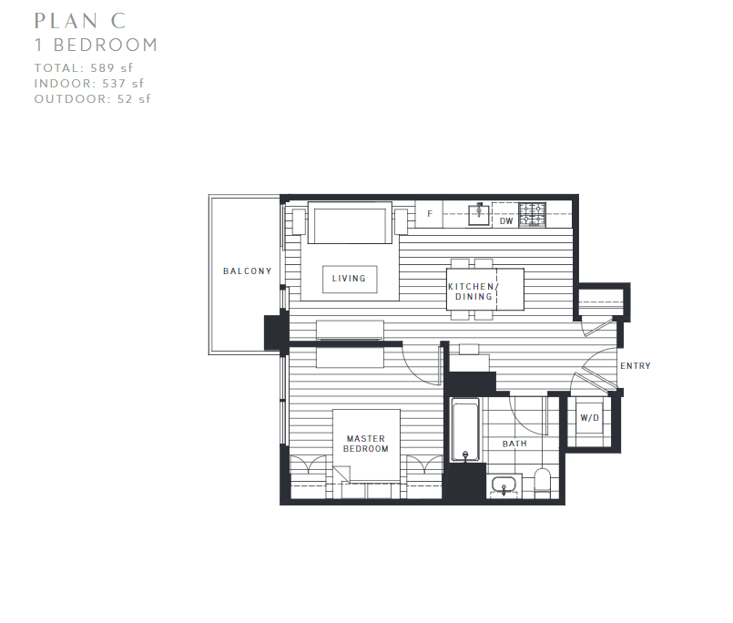 Maywood on the Park Burnaby Condo pre-sale floorplan C