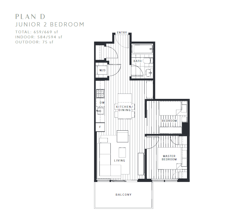Maywood on the Park Burnaby Condo pre-sale floorplan D
