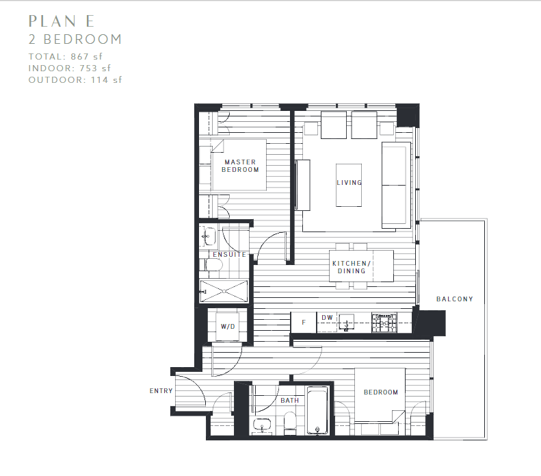 Maywood on the Park Burnaby Condo pre-sale floorplan E
