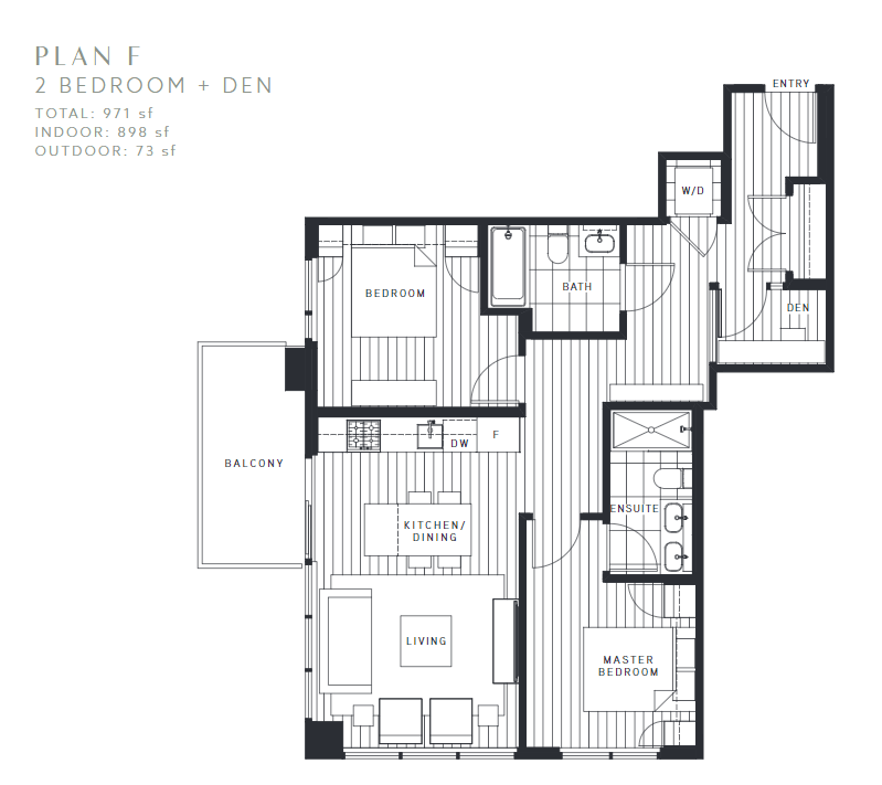 Maywood on the Park Burnaby Condo pre-sale floorplan F