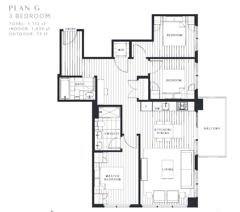 Maywood on the Park Burnaby Condo pre-sale floorplan G